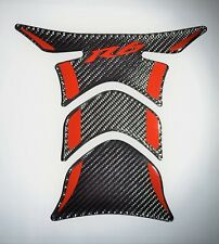 Yamaha R6 YZF R-6 Real Carbon Fiber red accent tank protector pad Decal sticker