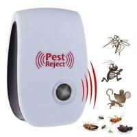 Ultrasonic Pest Repeller Bug Mouse Rat Spider Insect Repellent Favor Electr E7D4