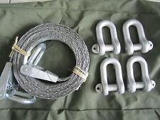 Hebegurt aus Stahlseilgeflecht für 2500 kg, inkl. 4 Schäkeln