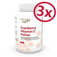Vita World 3er Pack Cranberry 400mg + Vit C 3 x 180 Kapseln Made in Germany