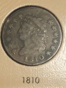 1810 Classic Head Large Cent Solid VF **Rare**