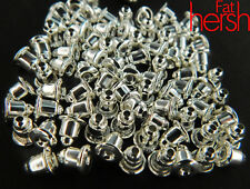 50 pcs Silver Bullet  Metal Pierced Earring back pads stoppers backings earrings