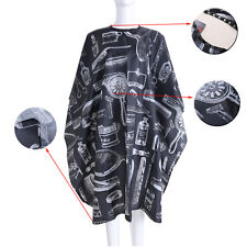 Black Hairdressing Gown Cape Hair-Cut Salon Barber Nylon Cloth Wrap Protect AUS