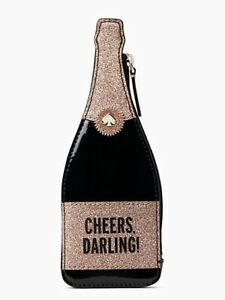 NEW Kate Spade Chestnut Street Champagne Cheers Darling Coin Purse