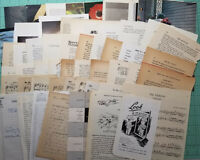 50 Vintage Book Pages Paper Ephemera Pack Mixed Sizes