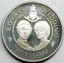 CAYMAN ISLANDS 1981 10 DOLARES MONEDA PLATA PROOF