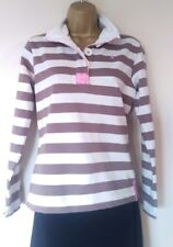 LOVELY JOULES SWEATER SZ 8 IN VGC! CREAM/ BROWN/ STRIPED/ HIGH QUALITY!
