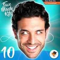 10 Face Masks Photo DIY KITS Personalised For Hen Parties Birthdays Stag Party
