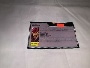 Vintage GI Joe File Card CANADIAN VER Nullifier
