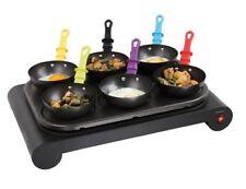 elektrisches Wok-set mit 6 Pfannen Domoclip DOM200 Mini-wok Crepe-gerät