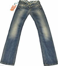 Distressed Replay Damen-Jeans mit geradem Bein