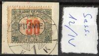 ✔️ FIUME 1918. 30F Sassone Segnatasse 12/IV USED