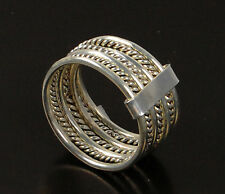 Damenring Ring 925 Sterling Kordelring Stapelring Silber Größe 16,8 sterling sil