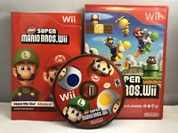 New Super Mario Bros. - Nintendo Wii (2009) Complete W/ Manual Complete