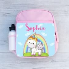 Personalizzati Baby Unicorno Bambine Bambini Zaino, borsa Scuola per Bambini