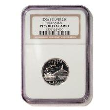 USA Nebraska State Quarter 2006 S Silver Proof NGC PF 69 Ultra Cameo