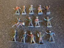 14x BRITAINS, ETC DIE-CAST/LEAD COWBOYS GOOD CONDITION FOR AGE