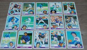 1983 CHICAGO CUBS Topps Baseball Team 26 Cards