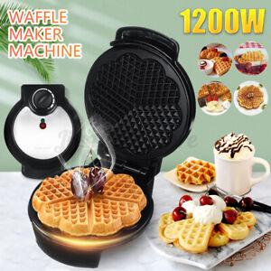 SOKANY 1200W Electric Waffle Maker Sandwich Cake Machine Baking Pan Non-stick