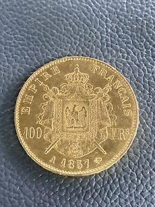 Pièce OR 100 Fr 1857