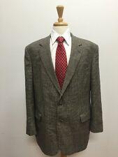 $998 Brooks Brothers Men's Brown & Beige Houndstooth 100% Wool Blazer Size 40L!