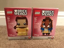 Lego 41595 and 41596 - Brickheadz Belle & Beast - New In Sealed Boxes - Retired
