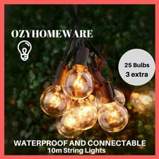 10m Backyard Patio Lights Hanging Indoor/Outdoor String Light Letter Party Decor