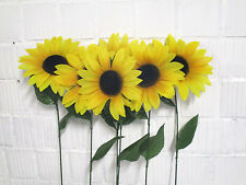 6 x Sonnenblume 75 cm Seidenblumen Deko Herbstdeko künstlich Floristik wie echt