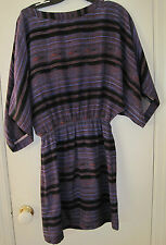 NEW Cynthia Vincent 12th Street Silk Dress - Small- MSRP $308.00- Purple