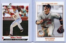 "MIKE TROUT & BRYCE HARPER 2011/2012 SPORTS ILLUSTRATED ""2"" CARD ROOKIE LOT!!!"