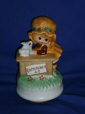 Vintage Lemonade Stand Ceramic Music Box by Fred Roberts plays My Way Japan 6½in
