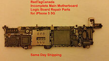 Incomplete Motherboard Main Board  for iPhone 5 5G From Canada  DHL Shipping