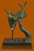 Salvador Dali Greatest Surrealist Hot Cast Bronze Sculpture Marble Base Lost Wax