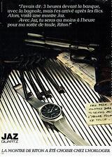 Publicité Advertising  117  1981  montre Jaz quartz