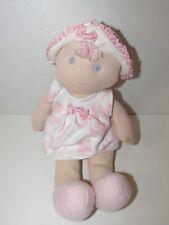 Koala Baby girl first Doll Baby rattle Pink flowers butterflies hat blonde soft