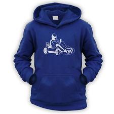 Cresci facoltativo Go Kart Felpa con Cappuccio Colori-x12-Regalo Divertente Da Corsa SUPERKART