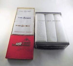 Mens white cotton handkerchiefs monogram B initial 3 pcs pack 2 gift boxes