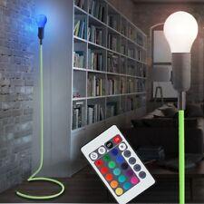 LED Stehleuchte Höhe 119 cm Esszimmer RGB FERNBEDIENUNG Textil weiß Dimmer Lampe