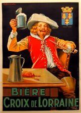 BIERE CROIX DE LORRAINE, France, 1913, 250gsm A3 Poster