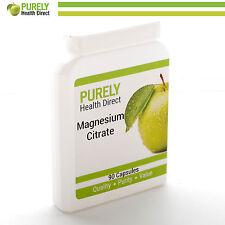 Magnesium Citrate 500mg 90 Vegetarian Capsules Manufactured in the UK