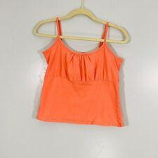 New listing Vintage Y2K Orange Cream Milkmaid Style Sleeveless Stretchy Cami Tank Crop Top