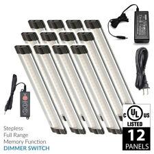 Lightkiwi T1018 6 Inch Warm White LED Under Cabinet Lighting - 12 Panel Kit