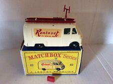 Matchbox Lesney TV Service Van 62 Nr très bon état en boîte