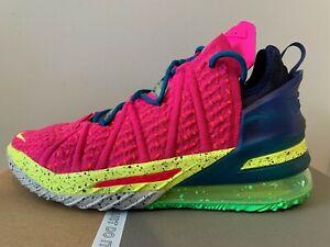 Men's Nike Lebron XVIII 18 US8.5 (Pink Prime/Multi-Color) Brand New