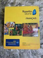 NEW Rosetta Stone French Version 4 Levels 1-5 Set NIB BOX HAS SEEN BETTER DAYS