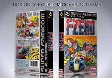 F ZERO. JAPAN VERSION. Box/Case. Super Nintendo. BOX + COVER. (NO GAME).