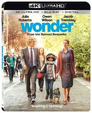 Wonder 01/18 4K UHD 4K (used) Blu-ray Only Disc Please Read
