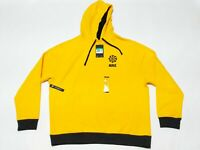 Nike Evolution of the Swoosh Club Pullover Hoodie Yellow CQ7191-740 Men's Sz XL