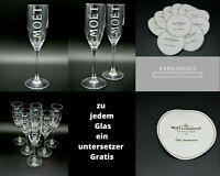 Moet Glas Gläser + Gratis Untersetzer || Champagnerglas Auswahl Set ||NEU| Sekt