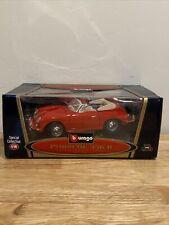 Bburago Special Collection 1/18 Scale Diecast Red Porsche 356B Cabriolet 1961.